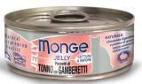 Monge Jelly 80г желтоперый тунец с креветками в желе Влажный корм для привередливых кошек