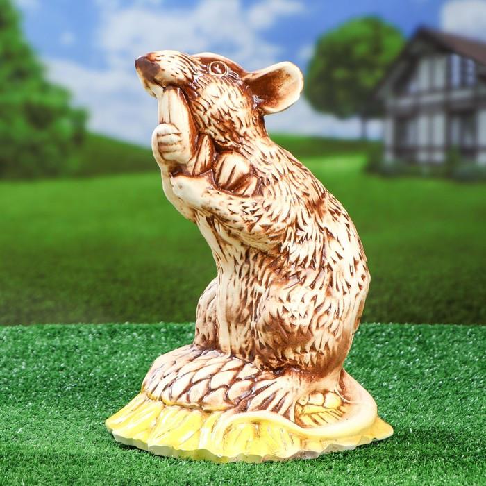 """Фигура садовая """"Крыса на подсолнухе"""" 36 см, микс, 1 сорт"""