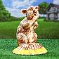 """Фигура садовая """"Крыса на подсолнухе"""" 36 см, микс, 1 сорт, фото 2"""