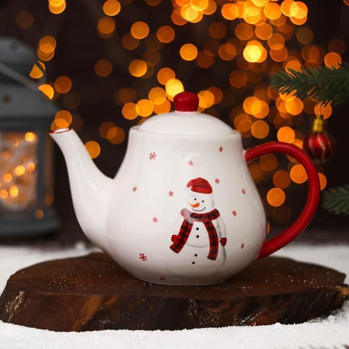Чайник заварочный «Весёлого Нового года», 700 мл