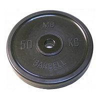Диск олимпийский d=51 мм, цвет чёрный, 50 кг