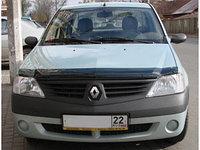 Мухобойка (дефлектор капота) на Renault Logan/ Рено Логан 2014-, фото 1