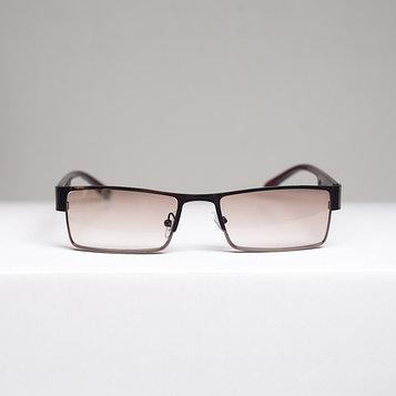 Очки корригирующие 336, цвет коричневый, тонированные, отгибающаяся дужка, -3