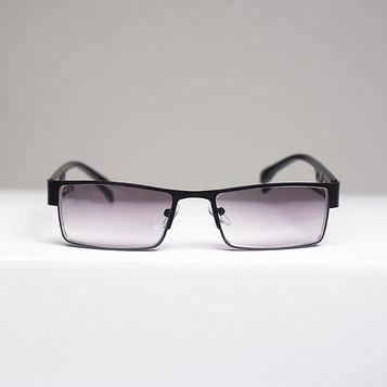 Очки корригирующие 336, цвет чёрный, тонированные, отгибающаяся дужка, -2