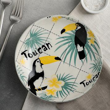 Тарелка «Тукан», 20,5×4 см
