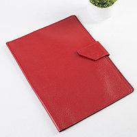 Папка для документов на клапане, 1 комплект, цвет красный