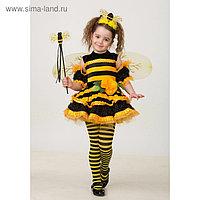 Карнавальный костюм «Пчёлка», велюр, р. 34, рост 134 см
