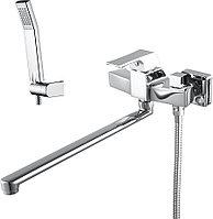 Смеситель для ванны и душа LEMARK Unit LM4517C универсальный, с плоским поворотным изливом, хром