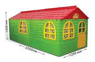 Домик детский (256х129), Doloni зеленый/красный