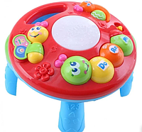 TOT KIDS Развивающий столик 2в1 ГУСЕНИЦА (свет,звук) 23*23*18 см, фото 1