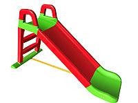 Горка детская Doloni, зелено-красная