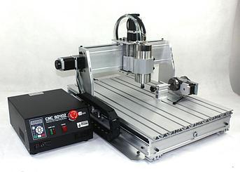 Фрезерно-гравировальный станок 4060 800Вт (Z version) + поворотное устройство