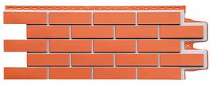 Фасадные панели Коралловый 1105x417 мм Клинкерный кирпич Серия Премиум Grand Line