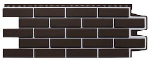 Фасадные панели Шоколадный  1105x417 мм Клинкерный кирпич Серия Премиум Grand Line