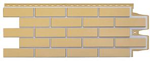 Фасадные панели Горчичный 1105x417 мм Клинкерный кирпич Серия Премиум Grand Line