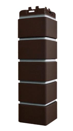 Угол наружный Шоколадный, 120х410 мм Клинкерный кирпич Серия Премиум Grand Line