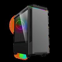 Корпус ПК без БП GameMax Paladin T801 1x120mm RAINBOW-N ,ARGB Controller , Midi-Tower, window, tempered glass,