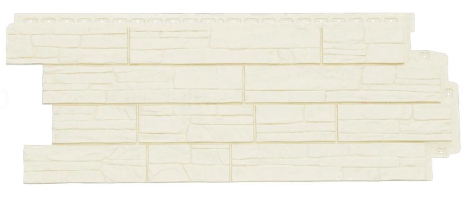 Фасадные панели Молочный 1110х418 мм Сланец серия Стандарт (моноцвет) Grand Line