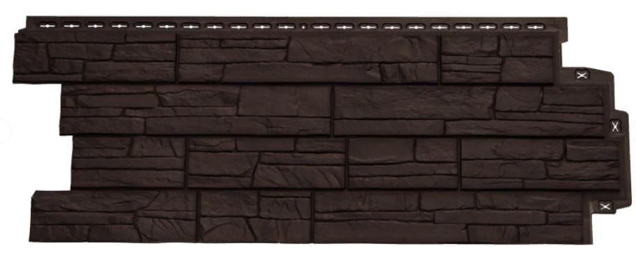 Фасадные панели Коричневый 1110х418 мм Сланец серия Стандарт (моноцвет) Grand Line