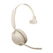 Jabra 26599-899-998 Гарнитура EVOLVE2 65, USB-A, MS Teams, Mono, Beige