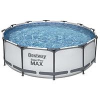 Каркасный круглый бассейн Bestway 56418 (366х100 см) с картриджным фильтром и лестницей, фото 1