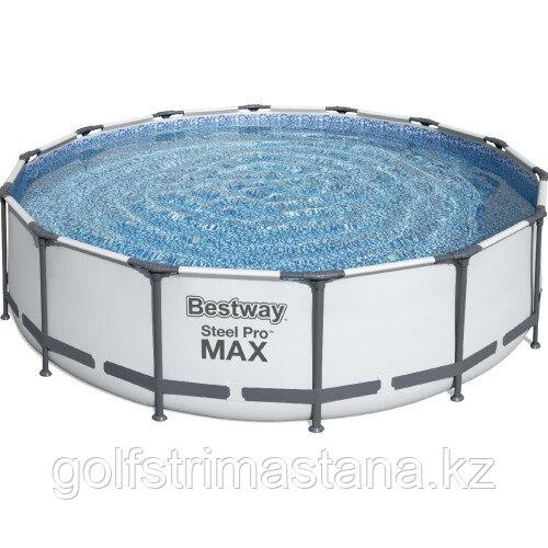 Каркасный бассейн Bestway 56950 (427х107 см) с картриджным фильтром, тентом и лестницей