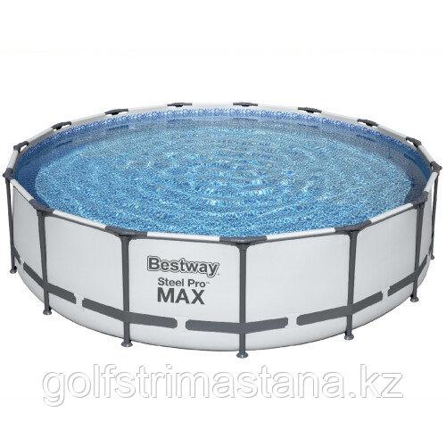Каркасный бассейн Bestway 56488 (457х107 см) с картриджным фильтром, тентом и лестницей