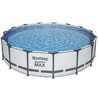 Каркасный бассейн Bestway 56488 (457х107 см) с картриджным фильтром, тентом и лестницей, фото 1