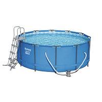 Каркасный бассейн Bestway 15427 (366х133 см) с картриджным фильтром и лестницей, фото 1