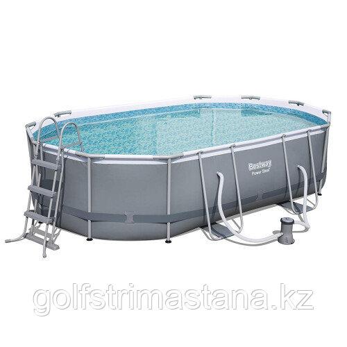 Каркасный бассейн Bestway 56448 Power Steel (488х305х107 см) с картриджным фильтром, лестницей и защитным