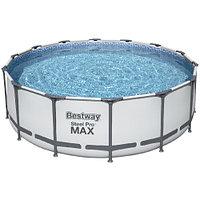 Каркасный бассейн Bestway 5612Z (488х122 см) с картриджным фильтром, лестницей и тентом, фото 1