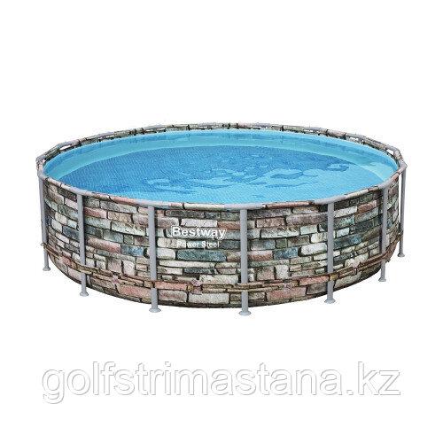 Каркасный бассейн Bestway Loft 56966 (488х122 см) с картриджным фильтром, лестницей и защитным тентом