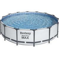 Каркасный круглый бассейн Bestway 56462 (549х122) с картриджным фильтром, лестницей и защитным тентом