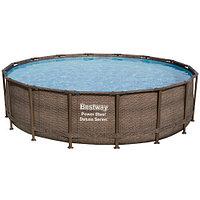 Каркасный бассейн Bestway Ротанг 56666 (488х122 см) с картриджным фильтром