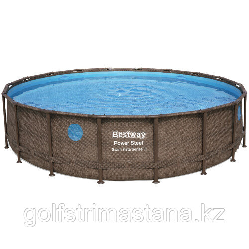 Каркасный бассейн Bestway Ротанг 56977 (549х122 см) с картриджным фильтром, лестницей и защитным тентом
