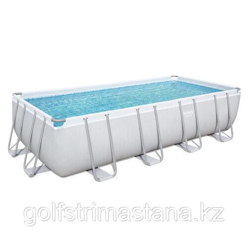 Каркасный прямоугольный бассейн Bestway 56465 (549x274x122 см) с картриджным фильтром, лестницей и тентом