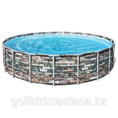 Каркасный бассейн Bestway Loft 56883 (610х132 см) с картриджным фильтром, лестницей и тентом