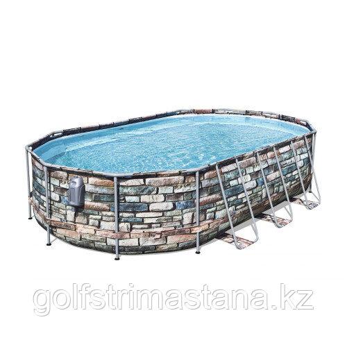 Каркасный бассейн Bestway 56719 (610х366х122 см) с картриджным фильтром и лестницей
