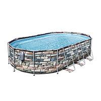 Каркасный бассейн Bestway 56719 (610х366х122 см) с картриджным фильтром и лестницей, фото 1