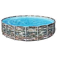 Каркасный бассейн Bestway Loft 56889 (671х132 см) с картриджным фильтром, лестницей и защитным тентом, фото 1