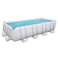 Каркасный прямоугольный бассейн Bestway 56475 (732х366х132 см) с песочным фильтром, лестницей и тентом, фото 1