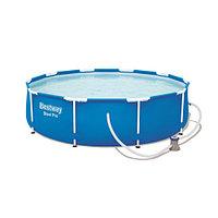 Каркасный бассейн Bestway 56681 (366х76 см) с картриджным фильтром, фото 1