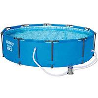Каркасный бассейн Bestway 56984 (305х100 см) с картриджным фильтром, фото 1