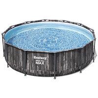 Каркасный бассейн Bestway Wood Style 5614X (366х100 см) с картриджным фильтром и лестницей, фото 1