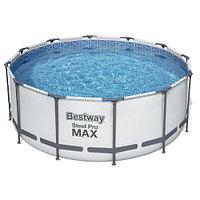Каркасный круглый бассейн Bestway 56420 (366х122 см) с картриджным фильтром, тентом и лестницей, фото 1