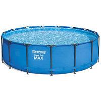 Каркасный круглый бассейн Bestway 56438 (457х122 см) с картриджным фильтром и лестницей, фото 1
