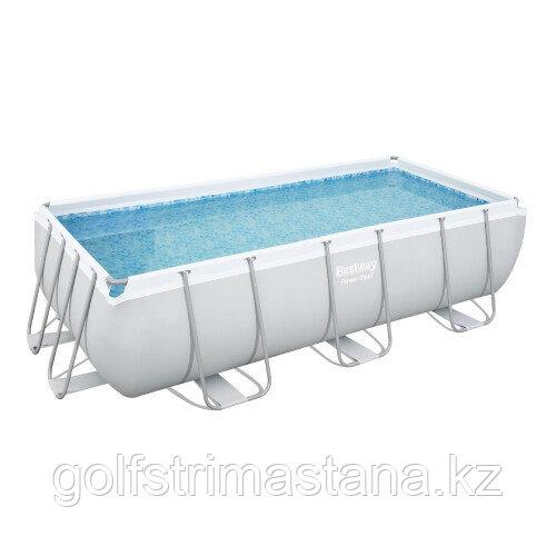 Каркасный прямоугольный бассейн Bestway 56441 (404х201х100 см) с картриджным фильтром и лестницей