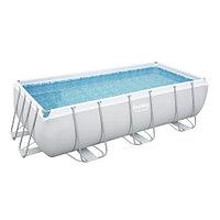 Каркасный прямоугольный бассейн Bestway 56441 (404х201х100 см) с картриджным фильтром и лестницей, фото 1