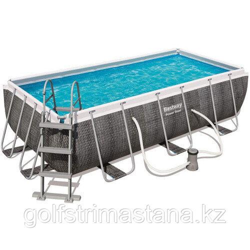 Каркасный бассейн Bestway 56721 (404х201х100 см) с картриджным фильтром и лестницей