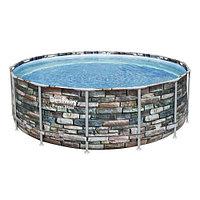 Каркасный бассейн Bestway Loft 56993 (427х122 см) с картриджным фильтром, лестницей и защитным тентом, фото 1